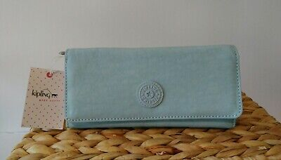 NWT Kipling New Teddi Wallet, Serenity (Pale Blue) - Last One!