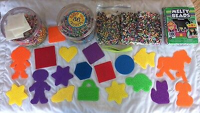 Melty Beads Perler Fuse Bead Activity Kids Crafts Fun Shapes 10,000+ Beads