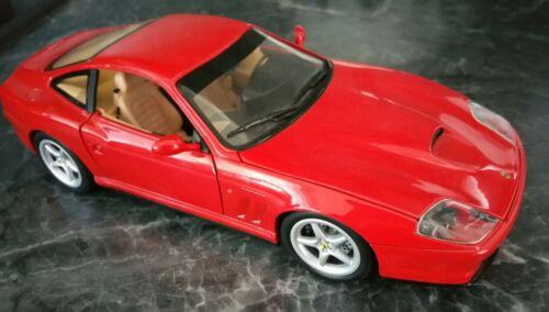 Ferrari 550 Maranello 1:18 Mattel Hotwheels wie NEU - ANDERE MODELLE AUF ANFRAGE