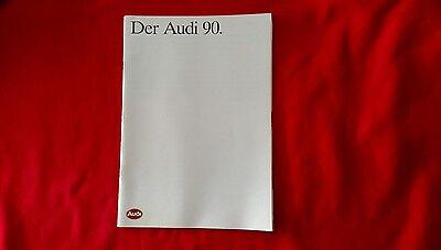 Der Audii 90 Dealer Sales Brochure 1990 printed in German