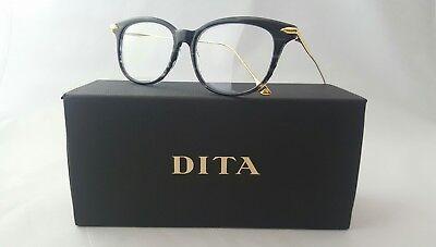 DITA CHIC DRX-3035-A-BLK-52 CRYSTAL BLACK GREY 18K GOLD OPTICAL FRAME MADE (Dita Optical)