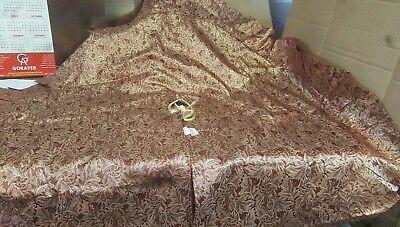 Martha Stewart Dark Red Gold Pattern Christmas Tree Skirt 42