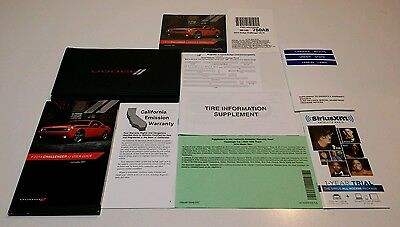 2014 DODGE CHALLENGER OWNERS MANUAL USER GUIDE SRT8 RT HEMI SXT HELL CAT V8 6.4L