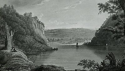 1857  Print Harpers Ferry West Virginia Junction Of Shenandoah Potomac Rivers