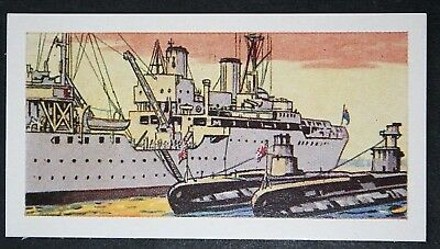 HMS FORTH  Royal Navy Submarine Depot Ship      Illustrated Card   VGC