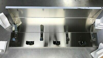 Bobrick B-239x34 Stainless Shelf With Mop And Broom Holders And Rag Hooks
