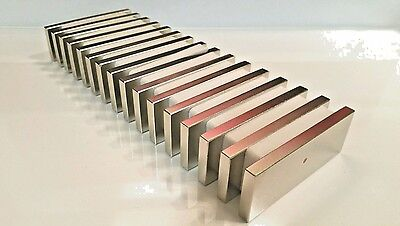 Huge Neodymium Block Magnet. Super Strong Rare Earth N52 grade 3 x 1-1/8  x 1/4