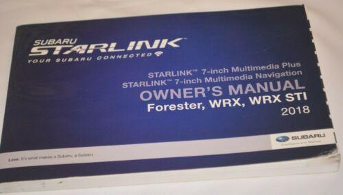 2018 SUBARU FORESTER, WRX, STI OWNERS MANUAL BOOK