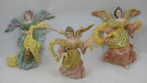 Milano Porcelain Sculpture Angel Ornaments by Eda Mann, Lot of 3