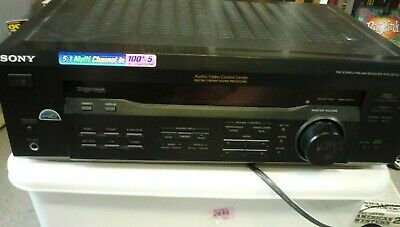 Sony 5.1 AV Receiver Amplifier Tuner Stereo Dolby Digital Surround STR-DE345
