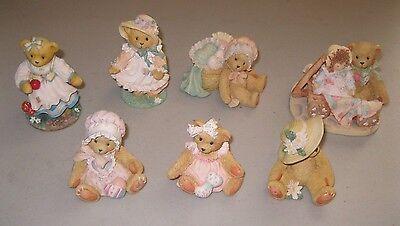 CHERISHED TEDDIES FIGURINES ~ LOT OF 7 BEARS ~ 1991-1997 Amy Hope Kelly Molly