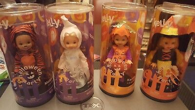 Barbie- Kelly Halloween Party~2004~Set of 4 Dolls~New~Mattel - Kelly Halloween 4
