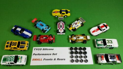 Car Parts - TYCO 440 440x2 ☆16 SILICONE TIRES☆ SMALL Front & Rear hop up slot car parts