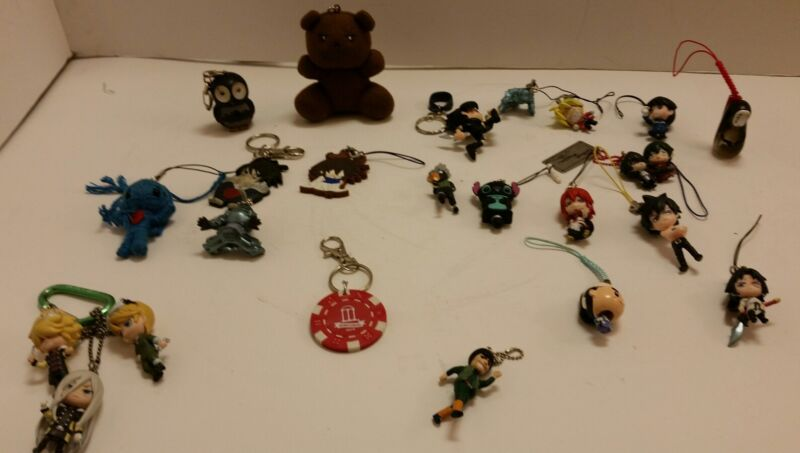 """Lot of 24 Naruto Keychains & Ornaments Anime Figures 2"""""""