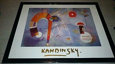 +++ Kandinsky Bild mit glänzendem, schwarzen Holzrahmen