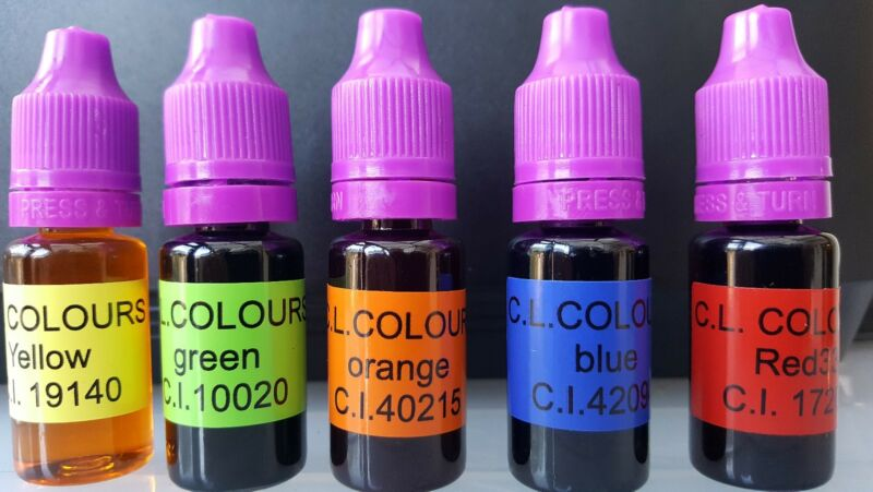 Soap+dye+5x10ml+soap+colour+perfect+for+melt+and+pour+%2Cshower+gels+and+bath+bomb