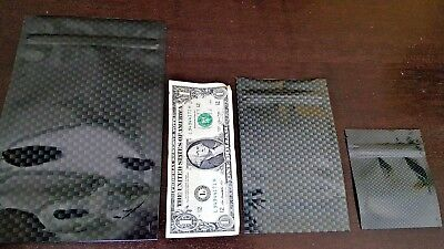 Carbon Fiber Stink Sack Stealth Smell-Proof Zip Top Storage Bags stink proof (Carbon Fiber Top)