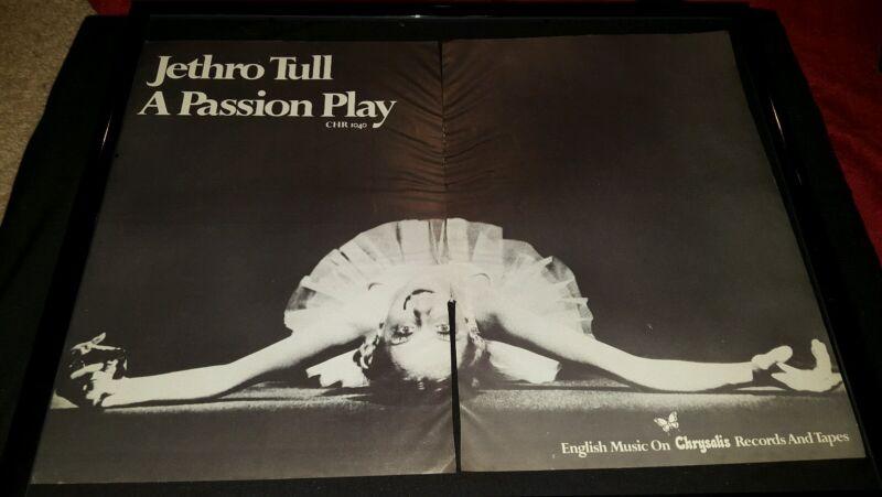 Jethro Tull A Passion Play Rare Original Promo Poster Ad Framed!