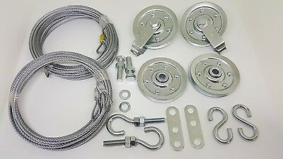 Extension Cable Kit - Garage door extension spring pulley sheave kit & SAFETY CABLE ~ Fast Shipping