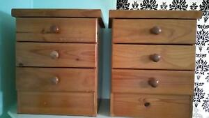 Set of matching draws and bedside tables Red Hill Brisbane North West Preview