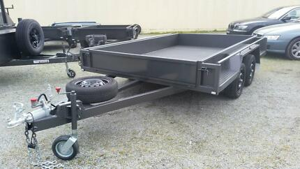 10x6 Tandem Deluxe Box Trailer - Full checker plate with ramps