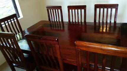 Dining Table + Chairs - Solid Rhodesian Teak Coogee Eastern Suburbs Preview
