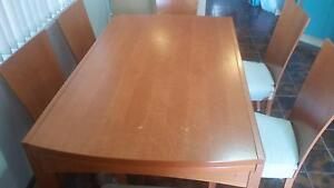 Calligaris dining table with 6 chairs Greenacre Bankstown Area Preview