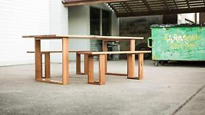 recycled timber table w/ matching benches Northgate Brisbane North East Preview