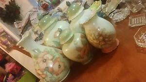 Hand Painted Vase Set - Late 1970's/1980's Taigum Brisbane North East Preview
