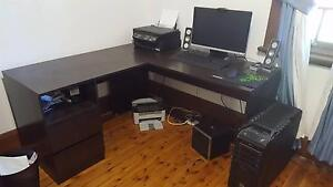 Black wooden corner desk from Fantastic Furniture Wagga Wagga Wagga Wagga City Preview