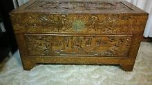 Vitage Asian Wooden Camphor Chest Wakerley Brisbane South East Preview