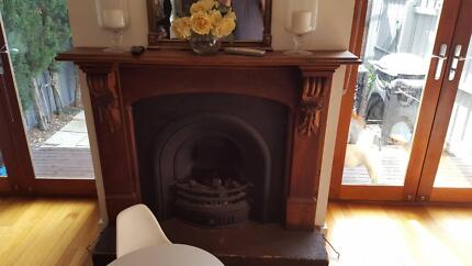 Gas Fireplace with Timber Mantel - URGENT SALE Albert Park Port Phillip Preview