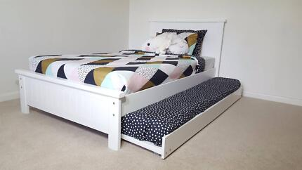 WILLIAMSTOWN KING SINGLE BED & TRUNDLE - AUST MADE - SALE PRICE