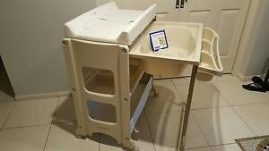 Montana CHANGE TABLE WITH Baby Bath & storage Amaroo Gungahlin Area Preview