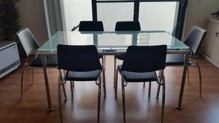 Dinning Table + 6 Chairs  Nickscali Auburn Auburn Area Preview