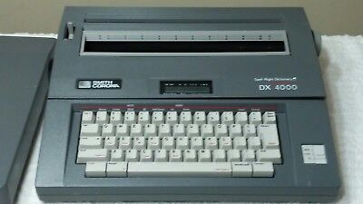 Vintage Smith Corona Dx 4000 Electric Memory Spell Right Typewriter Works