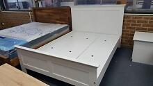 BRAND NEW MANCHESTER DOUBLE SIZE BED FRAME IN WHITE RRP $ 490 Clayton South Kingston Area Preview