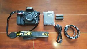 Nikon D800 Full Frame FX DSLR Camera Body Only with accessories Berwick Casey Area Preview