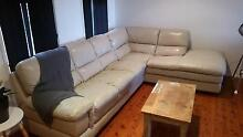 Lazy Boy leather lounge 6 seater modular with chaise Wyongah Wyong Area Preview
