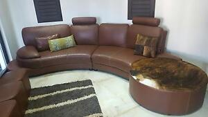 Leather Lounge Suite Voyager Point Liverpool Area Preview