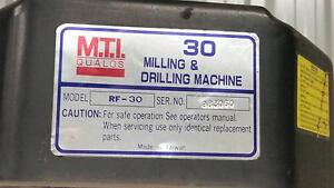 MILLING & DRILLING MACHINE - M.T.I Qualos Model RF 30 Wavell Heights Brisbane North East Preview