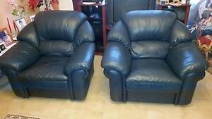 100% Italian Leather Sofa chairs Wetherill Park Fairfield Area Preview