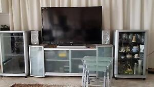Entertainment unit, display cabinets, coffee tables (Set) Redcliffe Belmont Area Preview