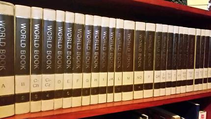 World Books Encyclopedias plus Childcraft books