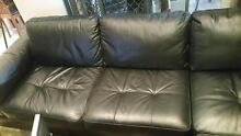 Leather Lounge Black Caringbah Sutherland Area Preview