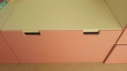 Stuva storage bench (2 available, $50 each)