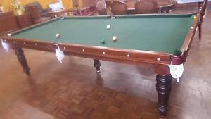 """Vintage Genuine Alcock 9' x 4'6"""" Pool Table Largs Bay Port Adelaide Area Preview"""