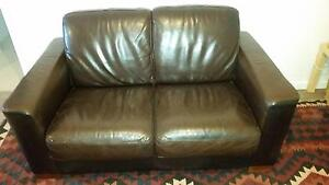 FREE brown leather lounge North Sydney North Sydney Area Preview