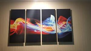 """Fire and Ice"" Glossy Metal Wall Art, 4 Panels, 48""x28"" Kialla Shepparton City Preview"