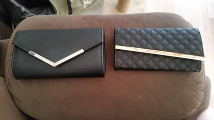 COLLETE HAYMAN Black Clutch & Wallet - Pick up only